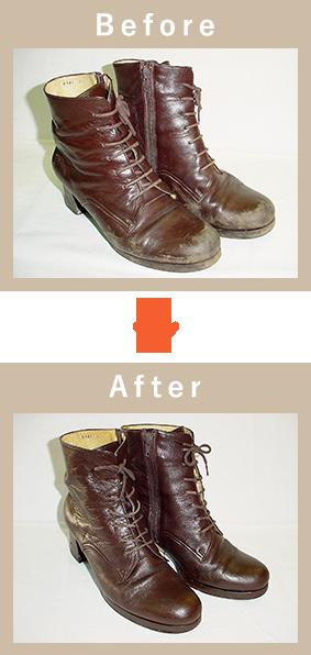 靴のビフォアアフター